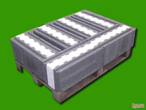 Керамзитобетонные блоки с утеплителем