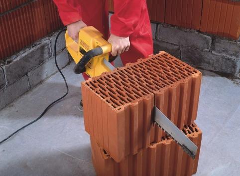 Резка керамического блока