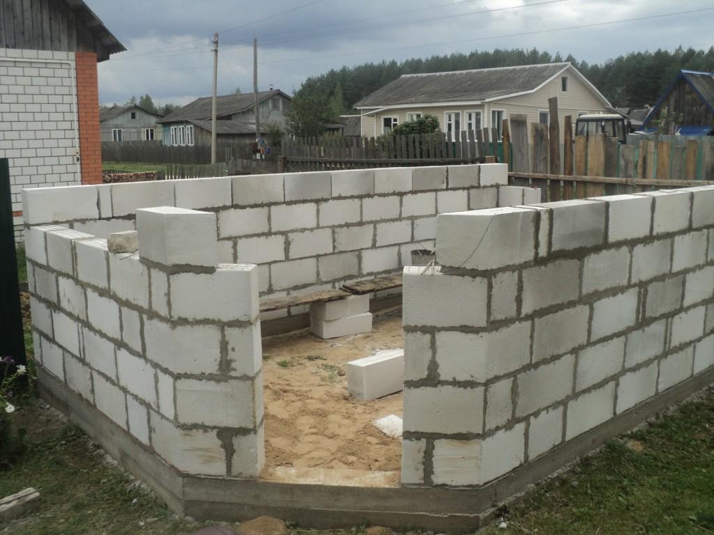 Делаем стены гаража