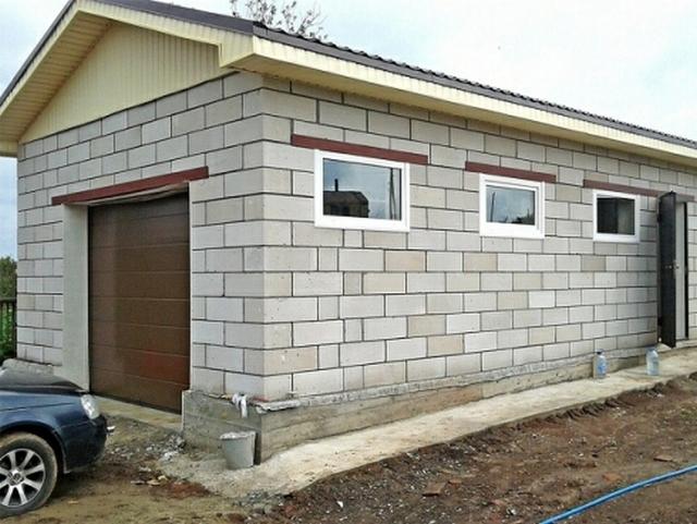 Как построить своими руками гараж из пеноблоков