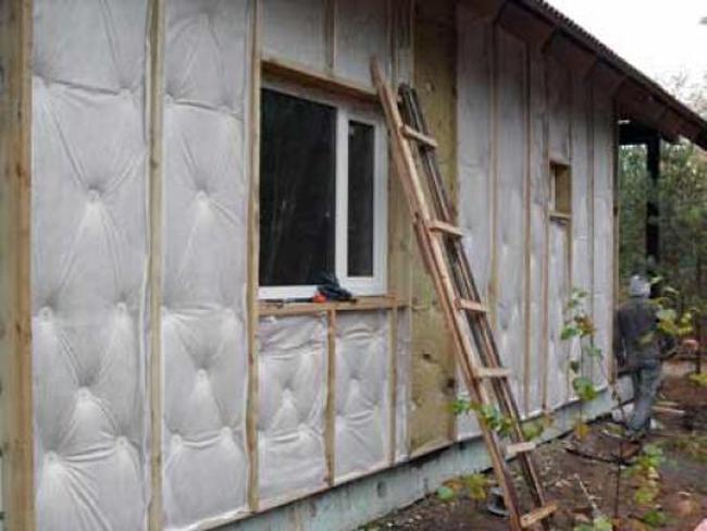Утепление стен из пеноблоков снаружи