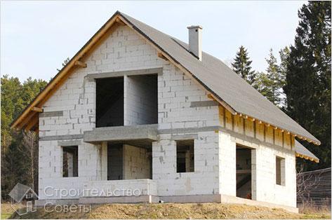 Как построить дом из пеноблоков своими руками