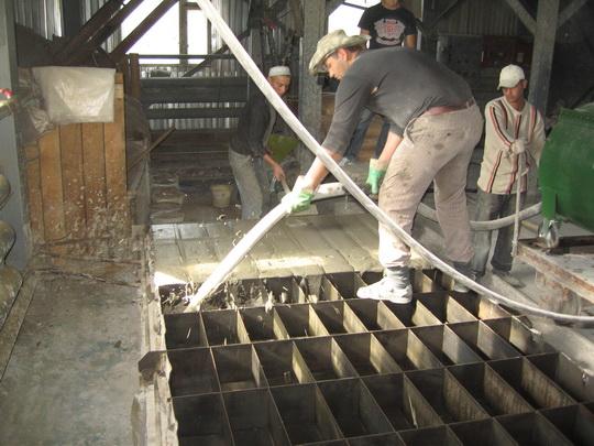 Производство пеноблоков литьевым методом