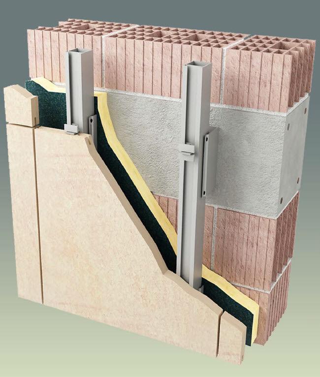 Схема кассетного фасада