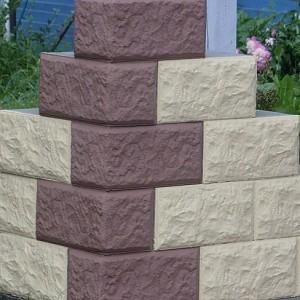 Специальные блоки из пенобетона с отделочной фасадной стороной.