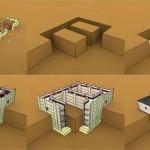 Строим фундамент из пеноблоков для бани