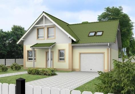 Проекты одноэтажных домов с мансардой из пеноблоков