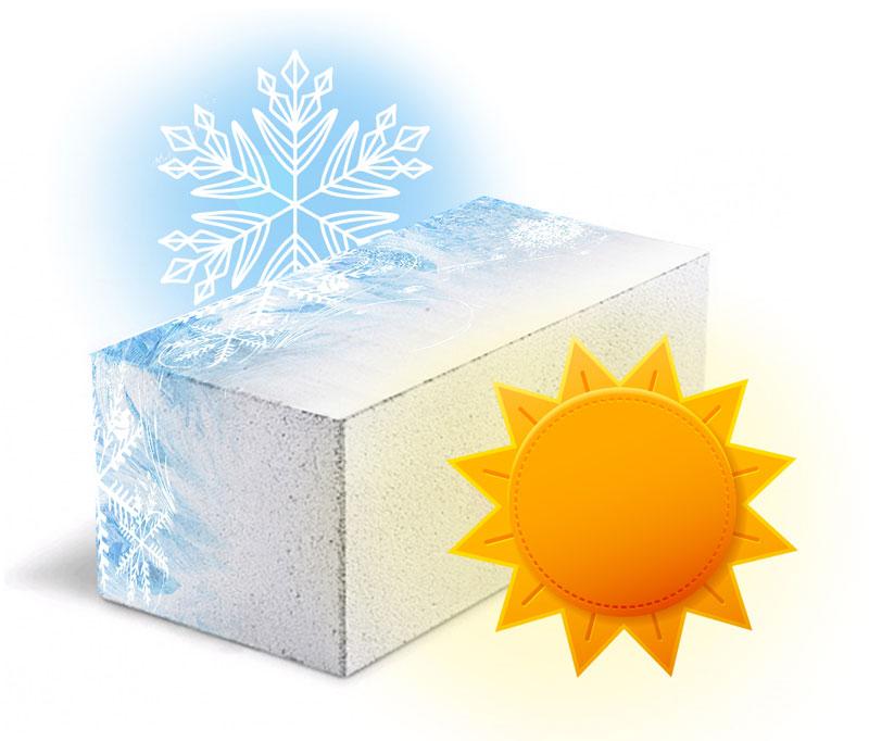 Пеноблоки обладают высокой морозостоикостью.