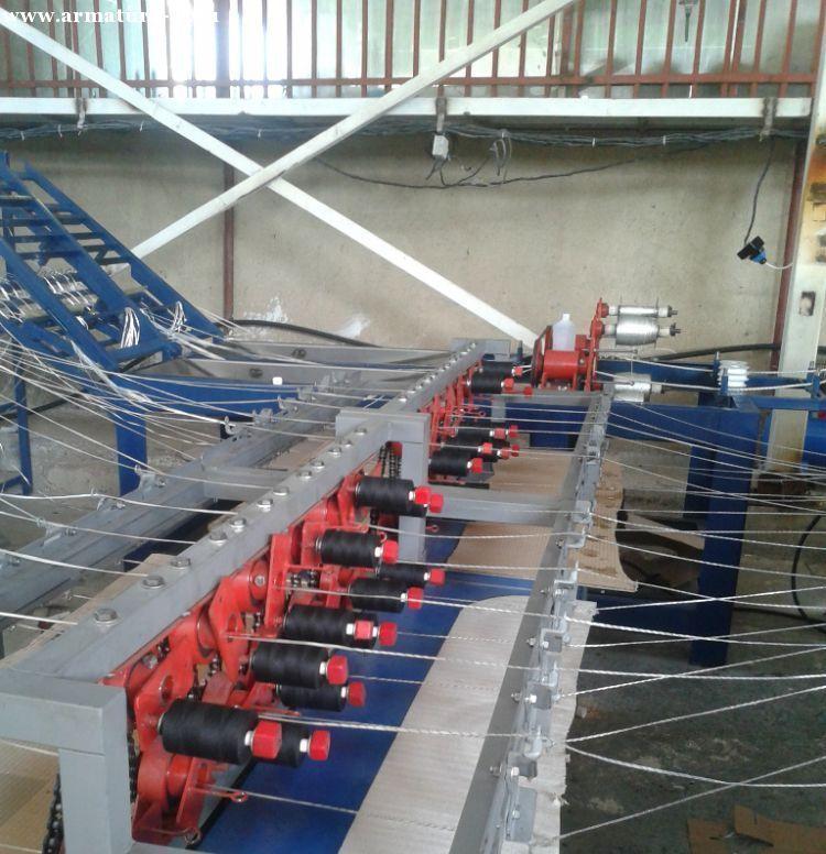 Изготовление полимерной сетки путем бесперебойной протяжки базальтового волокна.