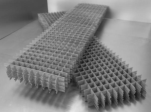 Металлическая сетка для армирования стен из пеноблоков, выпускаемая картами.