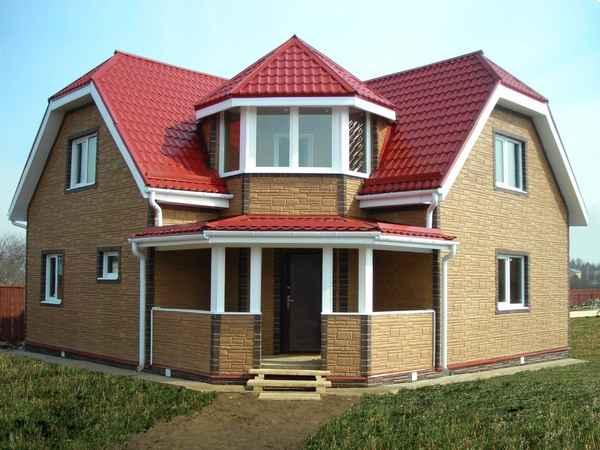 Фасадный пеноблок в строительстве домов.