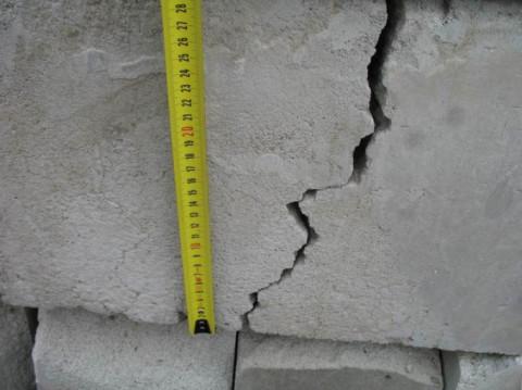 Трещины в доме из пеноблоков что делать