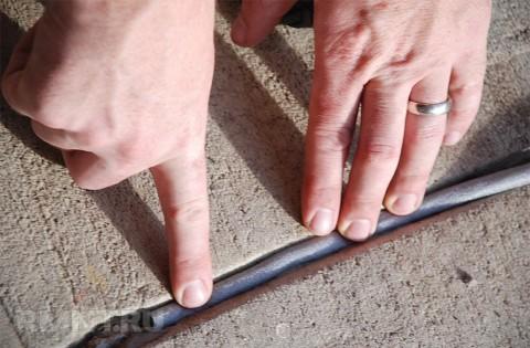 Устранение трещины по шву пеноблоков