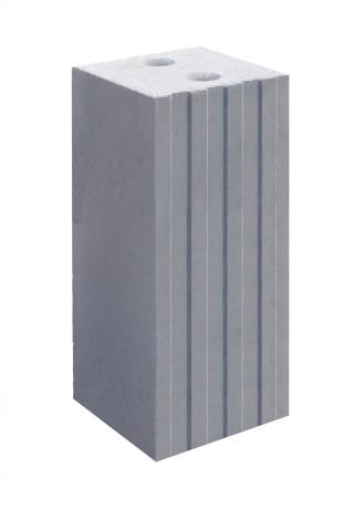 Разновидность силикатного стенового блока с пазами и гребнями на ложке