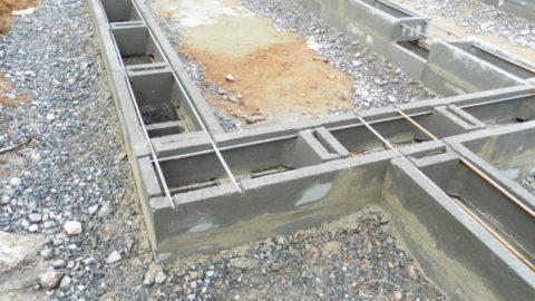 Фундаментная лента по несъёмной опалубке