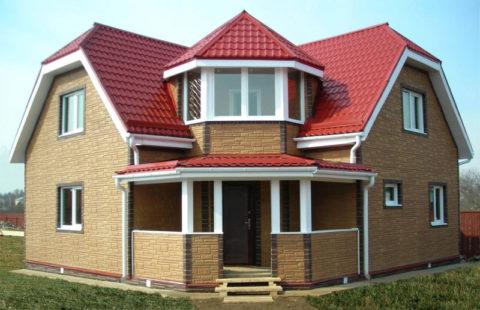 Готовый дом из пеноблока с отделкой