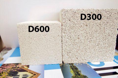 Пеноблок различной плотности, фото