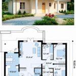 Интересный проект одноэтажного дома из пеноблока
