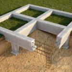Монолитный столбчато-ленточный фундамент