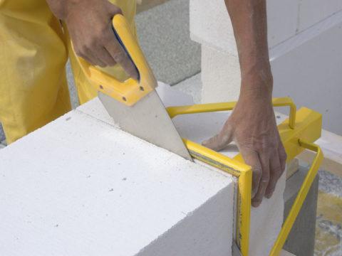 Распил пенобетонного блока
