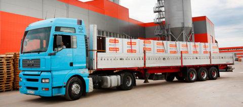 Данное изображение демонстрирует правильное крепление продукции при транспортировке