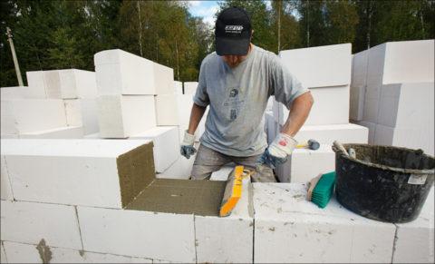 Применение стенового материала