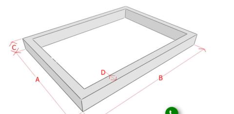 Чертеж с обозначениями и размерными линиями