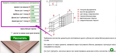 Ввод цен на стройматериалы