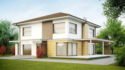 Даже стандартные двухэтажные дома требуют более сложных расчетов