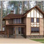 Двухэтажный дом в стиле шале