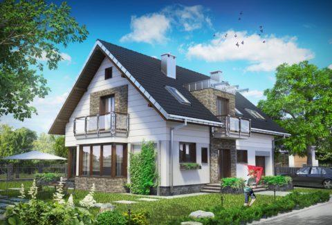 Проекты домов с верандой из пеноблоков - фото