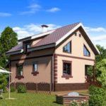 Дом с мансардой из пеноблока будет очень теплым и экологически чистым жильем