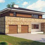 Интересный проект двухэтажного комбинированного дома из пеноблоков и бруса