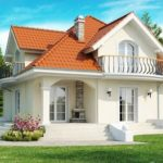 Классический дом с мансардой из пеноблоков - фото