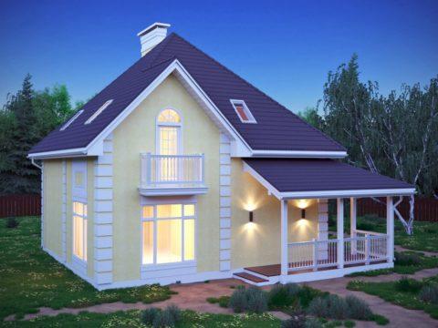 Практичный и красивый дом с мансардным уровнем