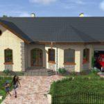 Проект одноэтажного дома из пеноблоков с гаражом