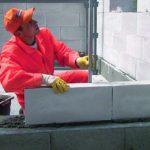 Кладка материалов на цементно-песчаный раствор