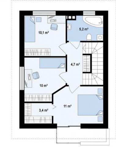 План расположения помещений второго этажа