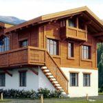Комбинированный дом в стиле шале