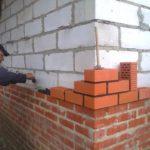 Стены из блоков тоже можно облицевать кирпичом