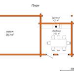 Блокированное строение с гаражом и зоной барбекю