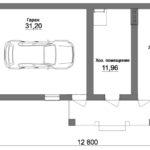 Большой хозблок с гаражом и летней кухней