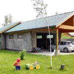 Гараж и летняя кухня из пеноблоков