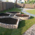 Устройство огородных грядок с помощью кирпича