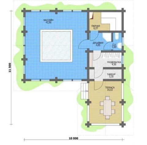 Большой банный комплекс