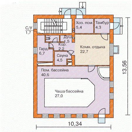 Первый этаж – планировка