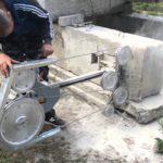 Резка бетонных блоков УШМ