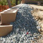 Подпирание насыпного грунта