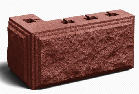 Сплитерный вибропрессованный блок