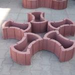 Вариант составления блоков в виде цветка